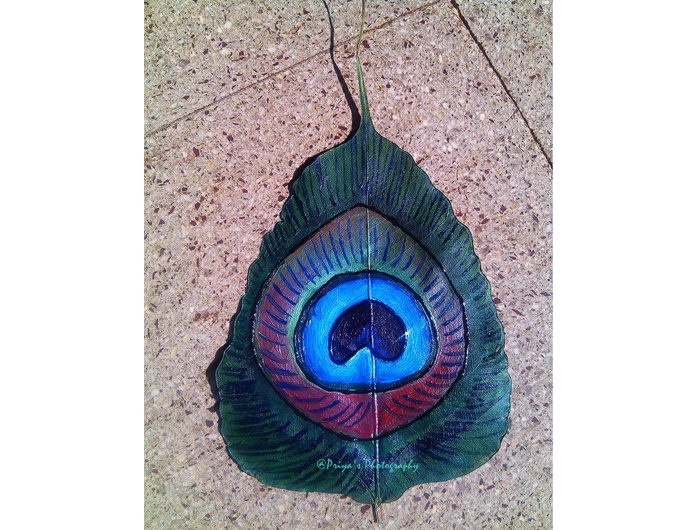 Leaf pecocok feathers