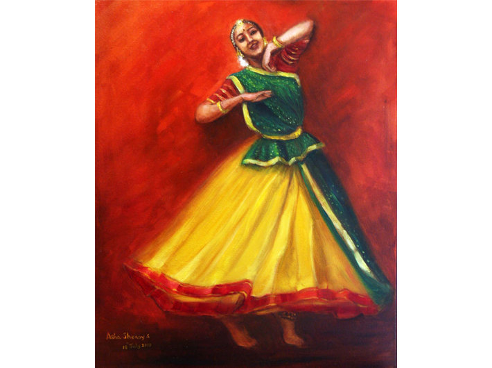 Radha Dancing Thinking Of Krishna
