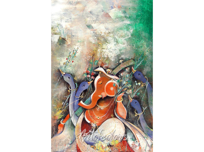 MS13_Ganesha Acrylic on Canvas