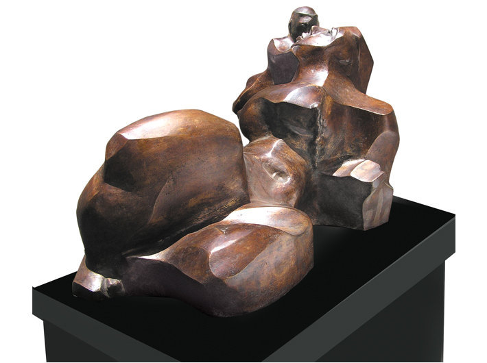 Mother and Child, Bronze