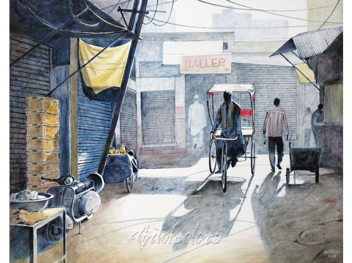 Old Delhi 04 Oil On Canvas