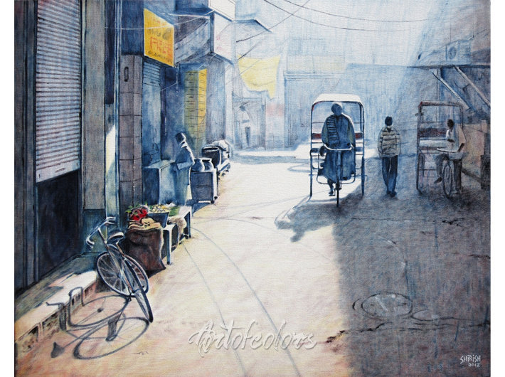 Old Delhi 01 Oil On Canvas