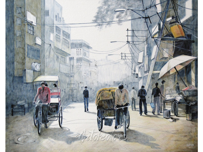 Old Delhi 05 Oil On Canvas