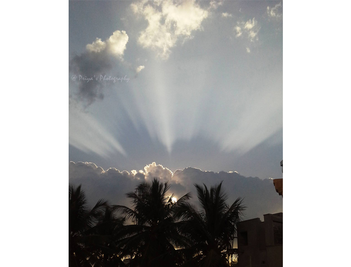 Beauty of sun rays